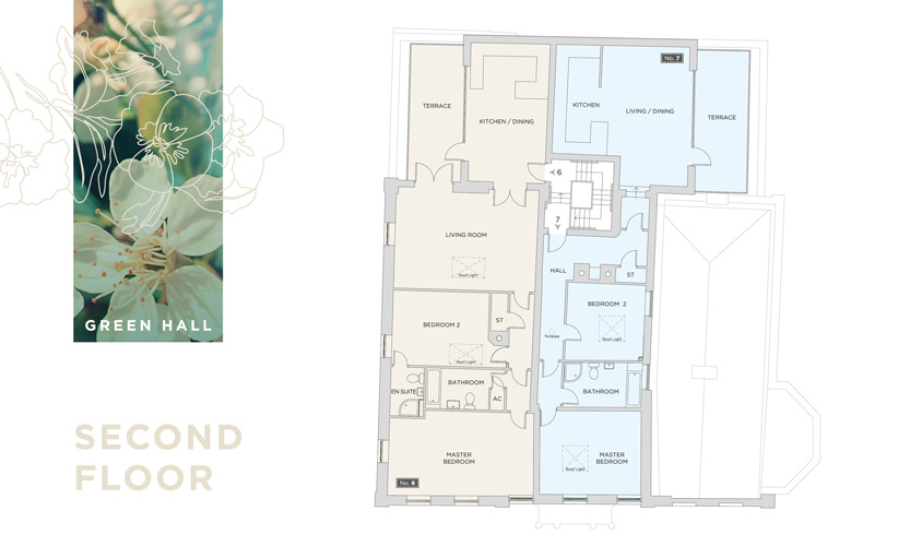 green hall floor plan pages